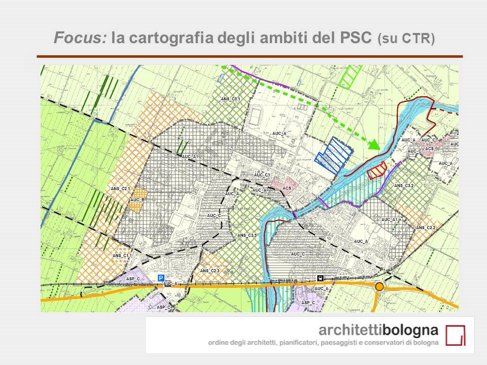 19 Focus: la cartografia degli ambiti del PSC (su CTR)