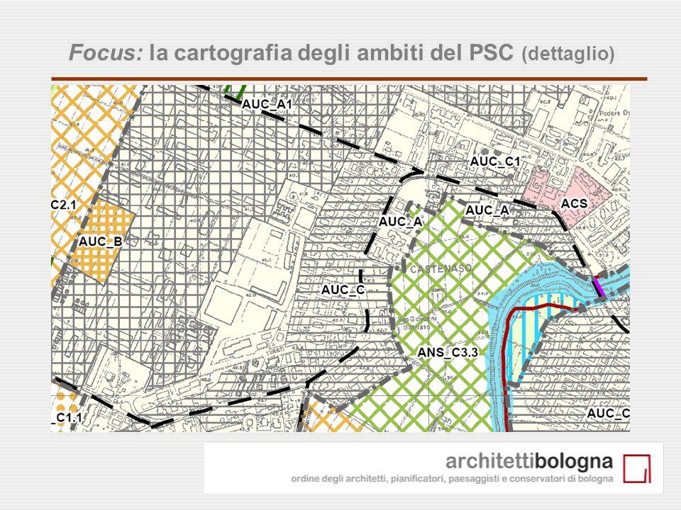 21 Focus: la cartografia degli ambiti del PSC (dettaglio)