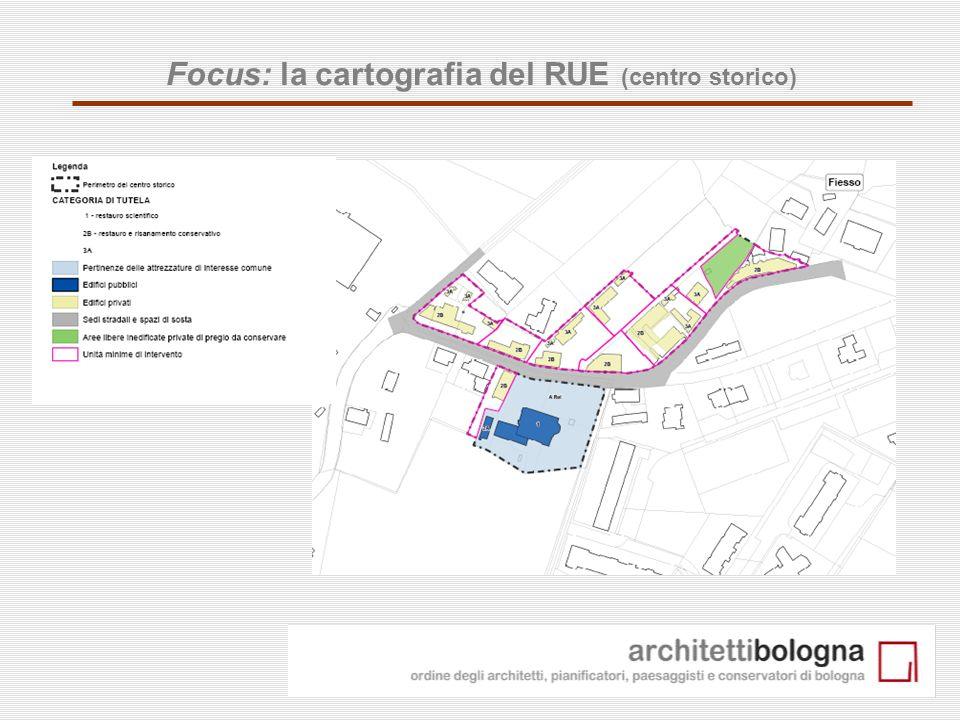 23 Focus: la cartografia del RUE (centro storico)