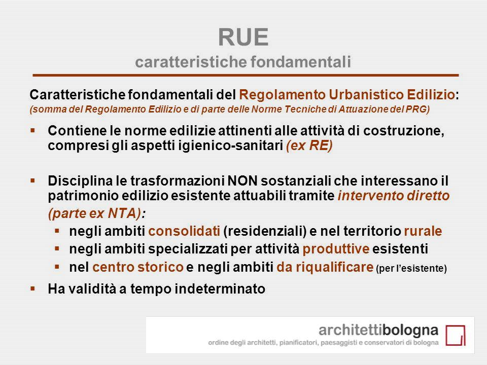 3 RUE caratteristiche fondamentali Caratteristiche fondamentali del Regolamento Urbanistico Edilizio: (somma del Regolamento Edilizio e di parte delle