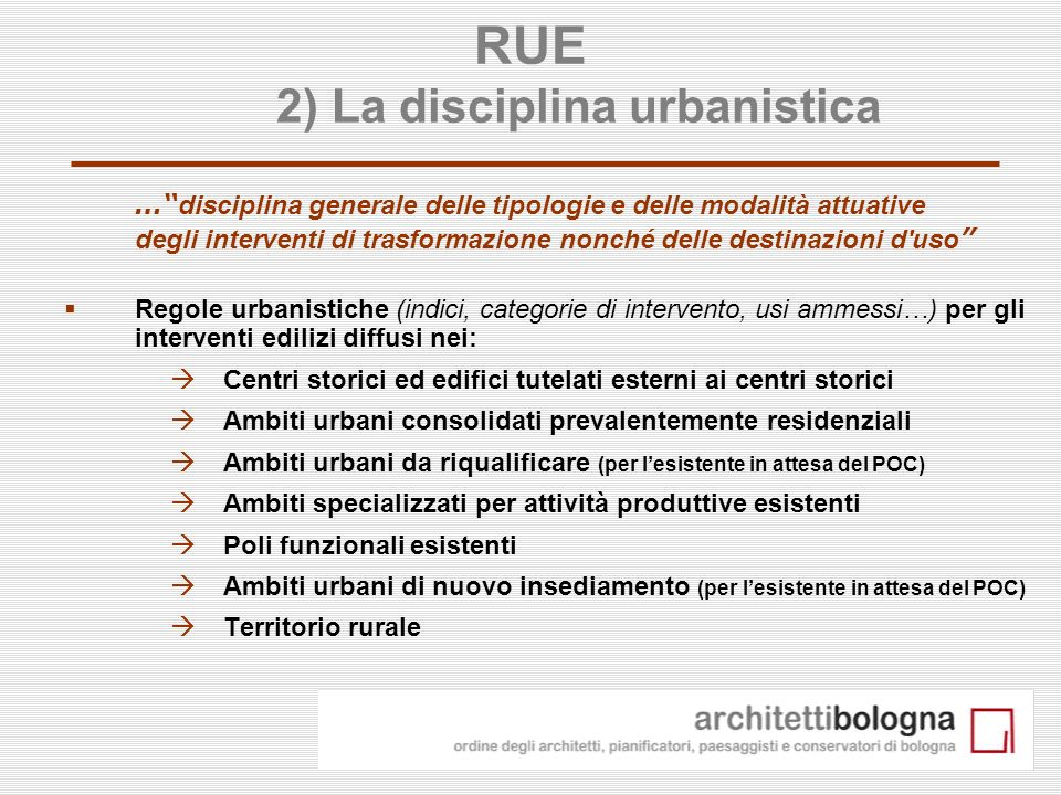 20 Focus: la cartografia del RUE (su base catastale)