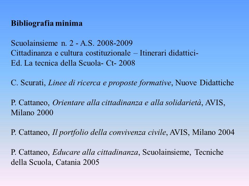 Bibliografia minima Scuolainsieme n. 2 - A.S.