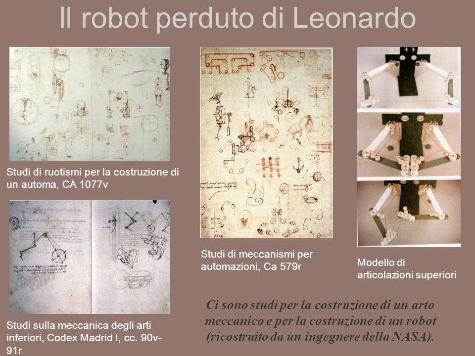Il robot perduto di Leonardo Studi di meccanismi per automazioni, Ca 579r Studi sulla meccanica degli arti inferiori, Codex Madrid I, cc.