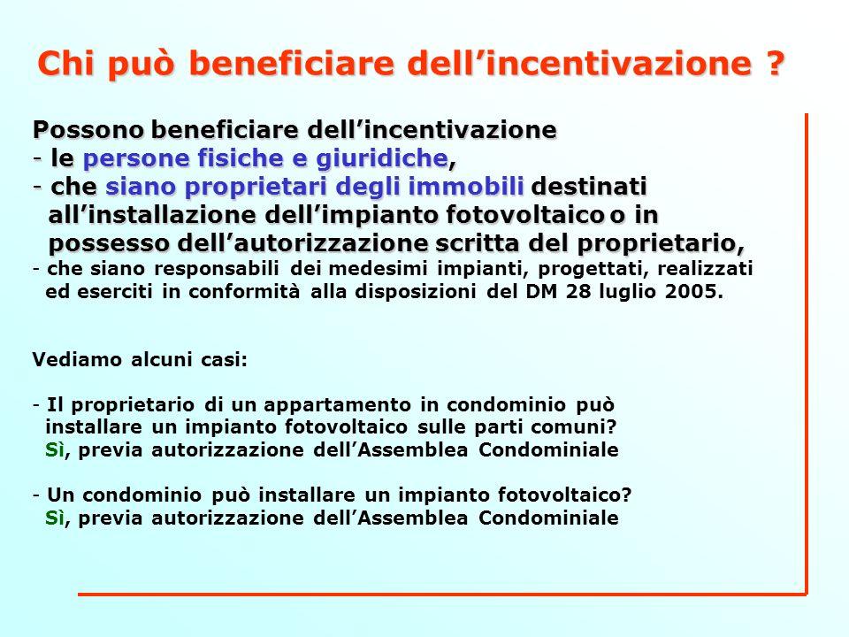 Chi può beneficiare dellincentivazione .