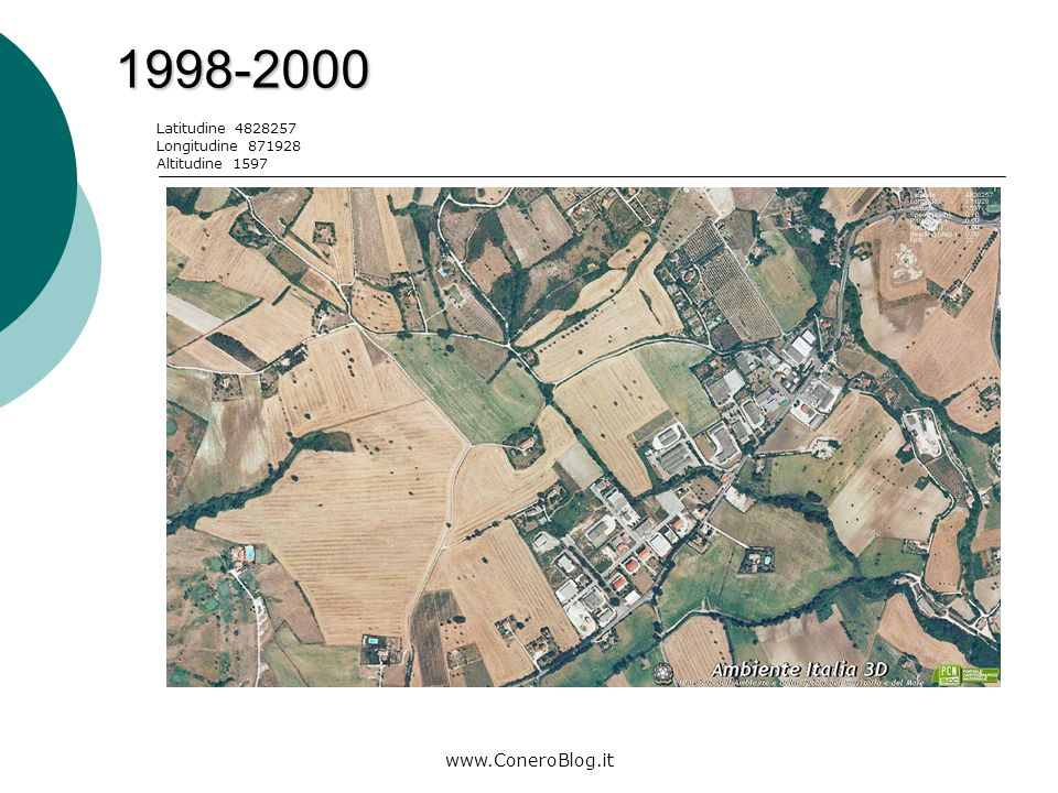 www.ConeroBlog.it 2006-2008 Legenda: area di costruzione Latitudine 4828471 Longitudine 872952 Altitudine 1086