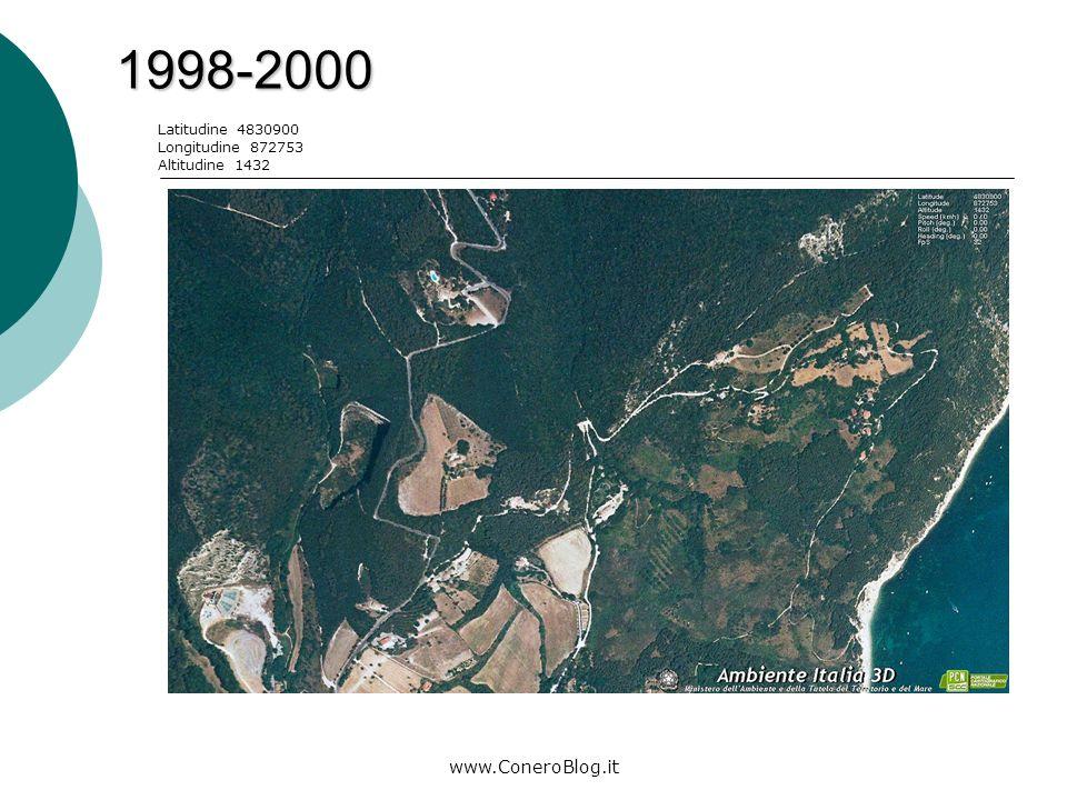 www.ConeroBlog.it 2006-2008 Latitudine 4830042 Longitudine 872456 Altitudine 1424 Legenda: area di costruzione