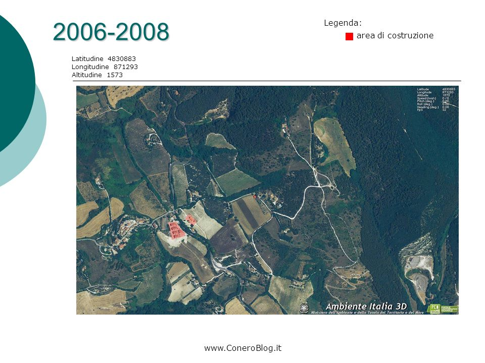 www.ConeroBlog.it 1998-2000 Latitudine 4830883 Longitudine 871293 Altitudine 1573