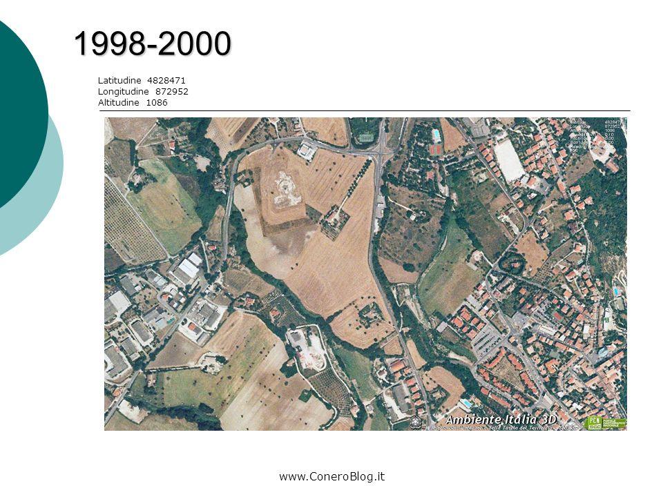 www.ConeroBlog.it 2006-2008 Latitudine 4829147 Longitudine 873009 Altitudine 1112 Legenda: area di costruzione parco giochi posteggi/rotonda
