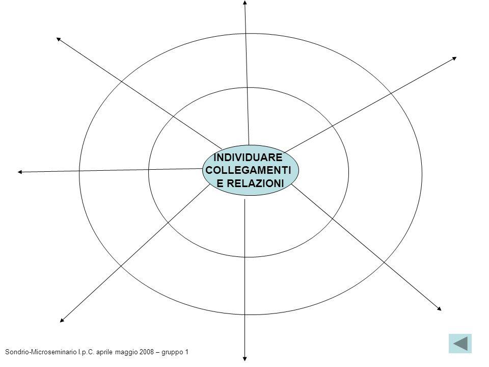 INDIVIDUARE COLLEGAMENTI E RELAZIONI Sondrio-Microseminario I.p.C. aprile maggio 2008 – gruppo 1