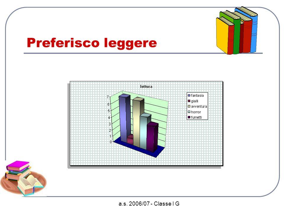 a.s. 2006/07 - Classe I G Oggetti tecnologici