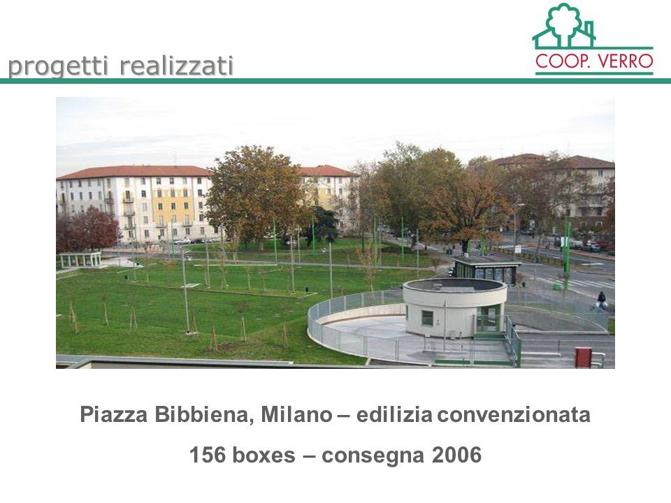 progetti realizzati Piazza Bibbiena, Milano – edilizia convenzionata 156 boxes – consegna 2006