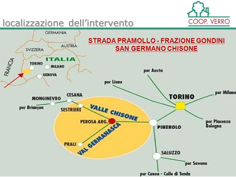 localizzazione dellintervento STRADA PRAMOLLO - FRAZIONE GONDINI SAN GERMANO CHISONE