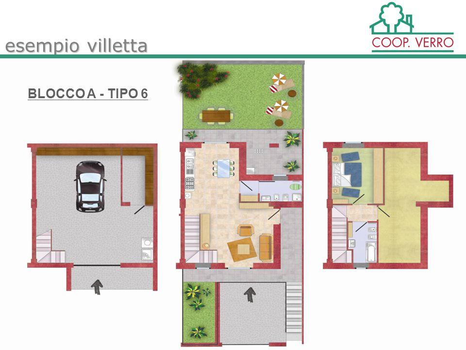 esempio villetta BLOCCO A - TIPO 6