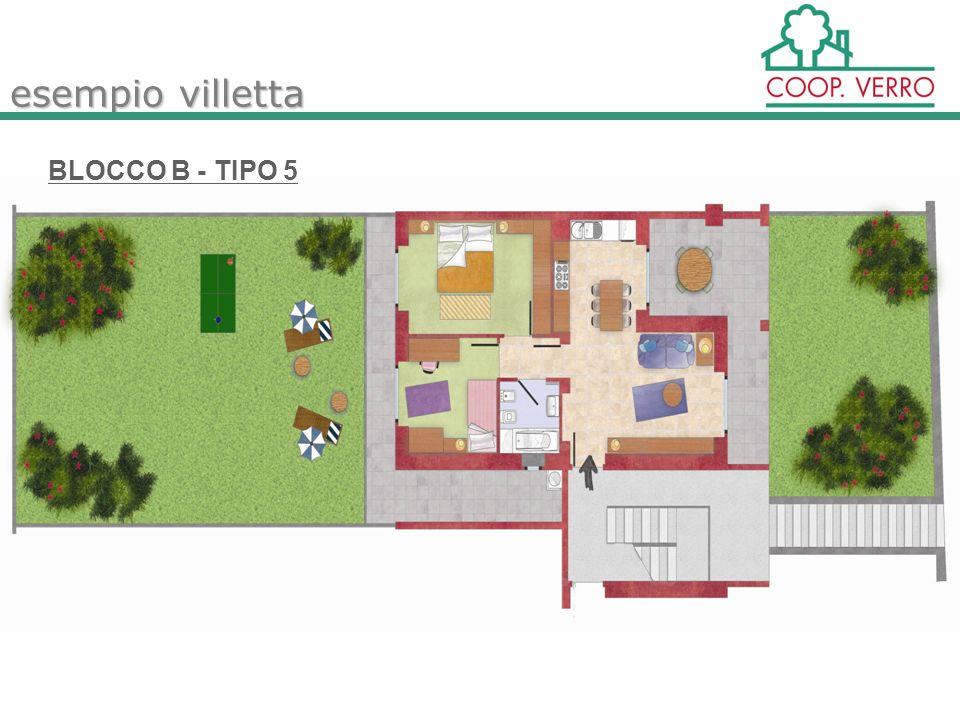 esempio villetta BLOCCO B - TIPO 5