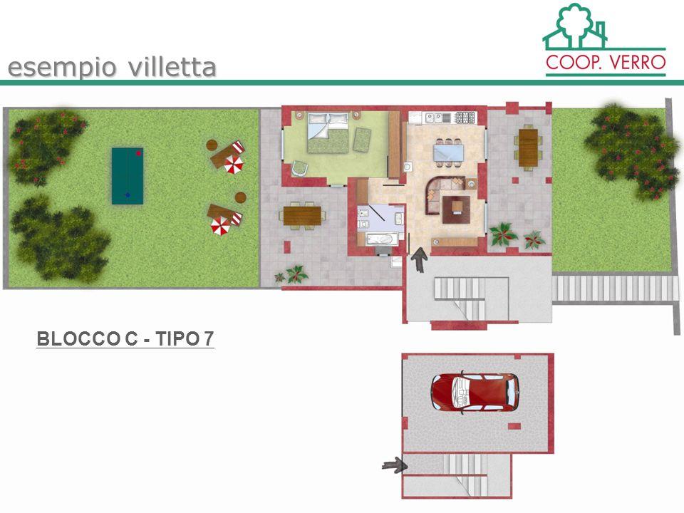 esempio villetta BLOCCO C - TIPO 7