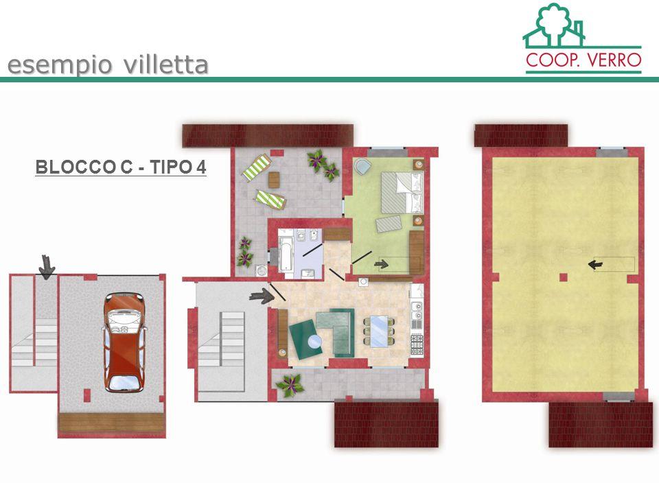 esempio villetta BLOCCO C - TIPO 4