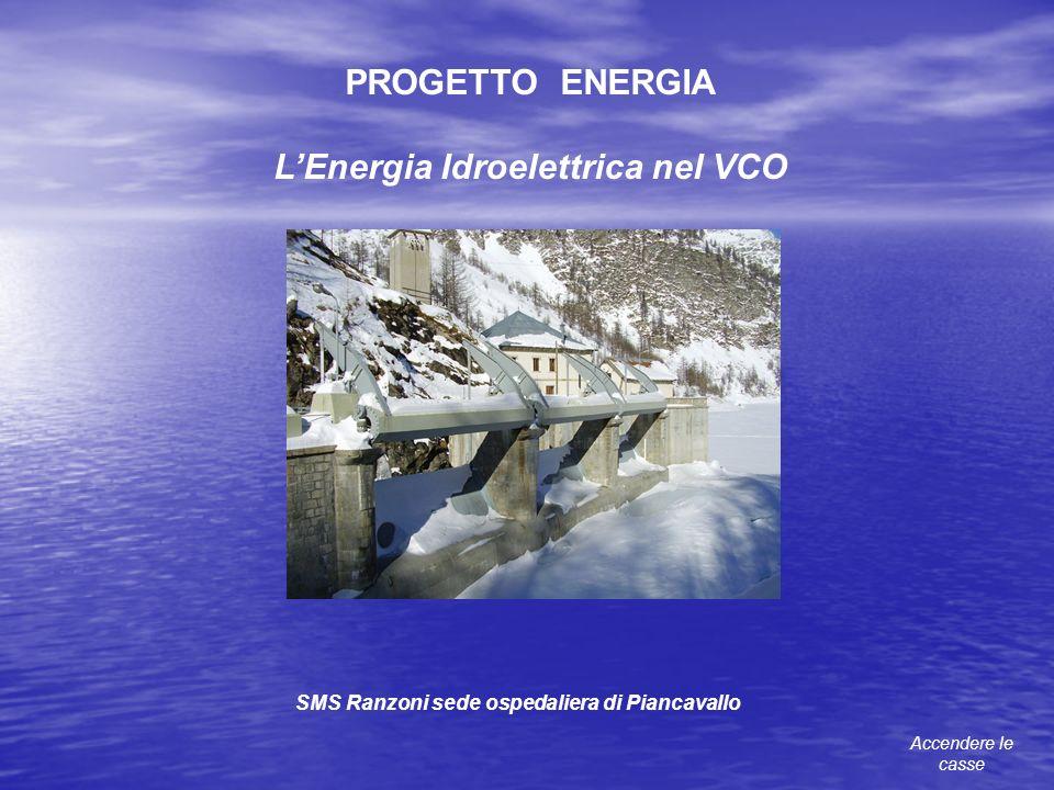 PROGETTO ENERGIA LEnergia Idroelettrica nel VCO SMS Ranzoni sede ospedaliera di Piancavallo Accendere le casse