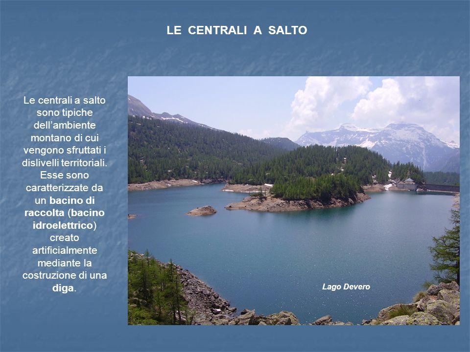 LE CENTRALI A SALTO Le centrali a salto sono tipiche dellambiente montano di cui vengono sfruttati i dislivelli territoriali.