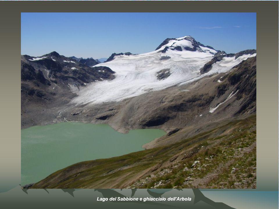 Lago del Sabbione e ghiacciaio dellArbola