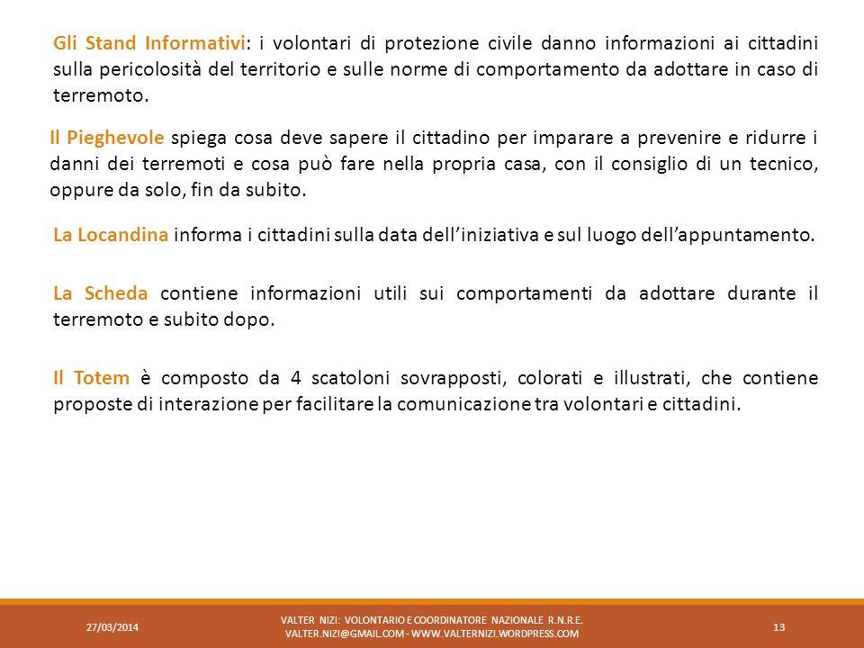 Gli Stand Informativi: i volontari di protezione civile danno informazioni ai cittadini sulla pericolosità del territorio e sulle norme di comportamen