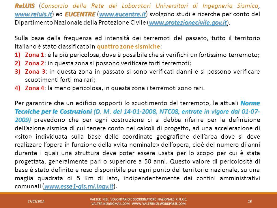 Norme Tecniche per le Costruzioni (D. M. del 14-01-2008, NTC08, entrate in vigore dal 01-07- 2009) www.esse1-gis.mi.ingv.it Per garantire che un edifi