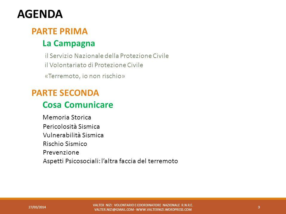 AGENDA VALTER NIZI: VOLONTARIO E COORDINATORE NAZIONALE R.N.R.E. VALTER.NIZI@GMAIL.COM - WWW.VALTERNIZI.WORDPRESS.COM 3 PARTE PRIMA La Campagna il Ser