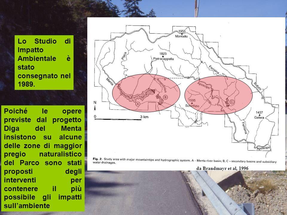 Poiché le opere previste dal progetto Diga del Menta insistono su alcune delle zone di maggior pregio naturalistico del Parco sono stati proposti degl