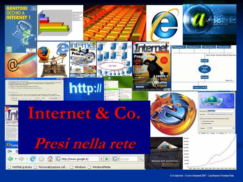 Csv Marche - Corso Internet 2007 - Lanfranco Norcini Pala Internet & Co. Presi nella rete
