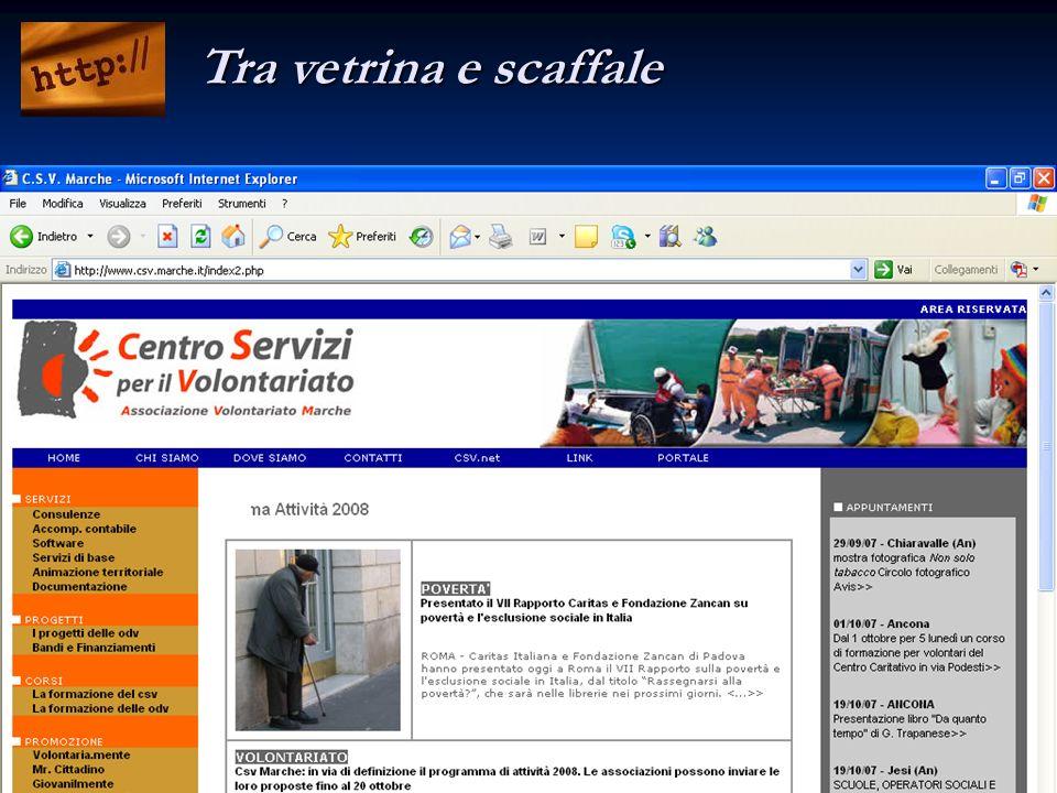 Csv Marche - Corso Internet 2007 - Lanfranco Norcini Pala Tra vetrina e scaffale
