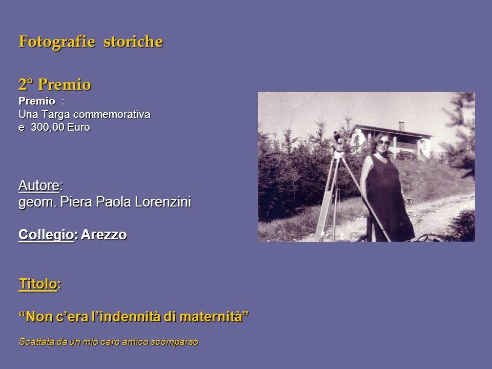 Fotografie storiche 2° Premio Premio : Una Targa commemorativa e 300,00 Euro Autore: geom. Piera Paola Lorenzini Collegio: Arezzo Titolo: Non cera lin