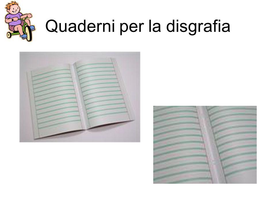 Quaderni per la disgrafia