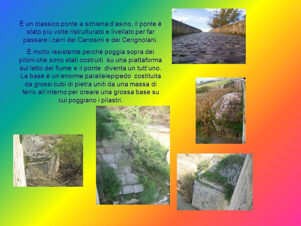 Il ponte romano sullOfanto si trova al confine tra due territori, due province, due comuni: provincia di Foggia e vecchia provincia di Bari ora Barlet