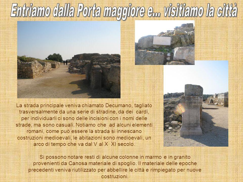 Entriamo nella città e ci troviamo di fronte ad un …. Castello costruito in più fasi nel VI e nel VII secolo la prima struttura era una torre quadrang