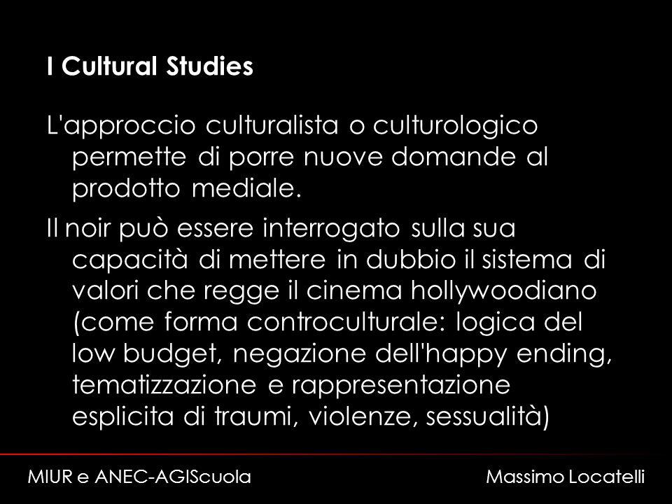 I Cultural Studies L approccio culturalista o culturologico permette di porre nuove domande al prodotto mediale.
