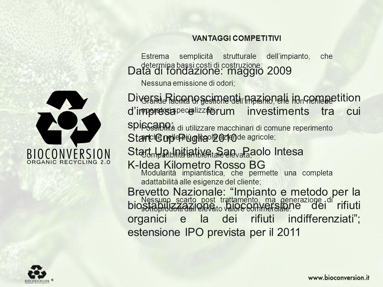 3 Data di fondazione: maggio 2009 Diversi Riconoscimenti nazionali in competition dimpresa e forum investiments tra cui spiccano: Start Cup Puglia 201