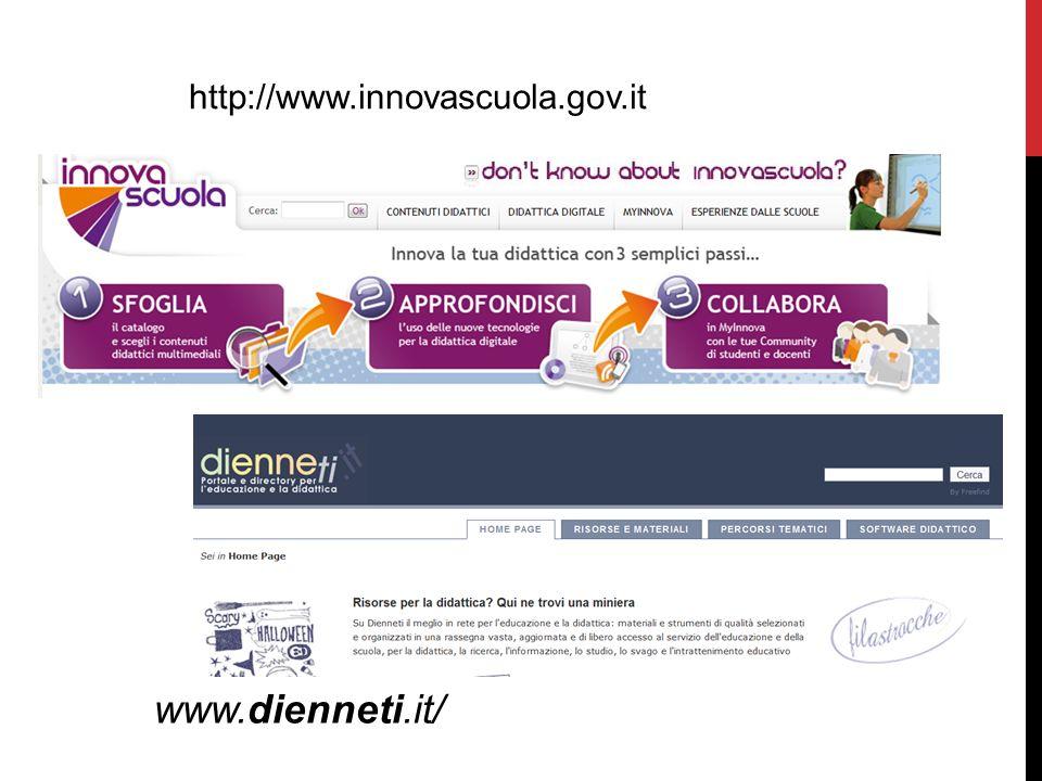 http://www.innovascuola.gov.it www.dienneti.it/