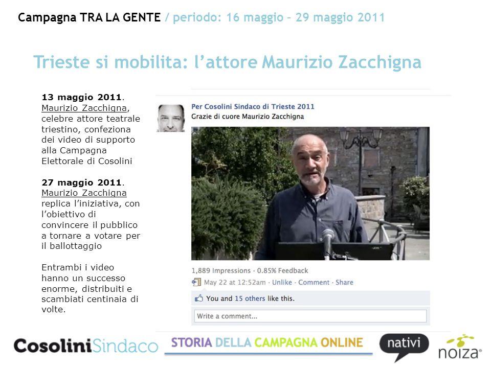Campagna TRA LA GENTE / periodo: 16 maggio – 29 maggio 2011 Trieste si mobilita: lattore Maurizio Zacchigna 13 maggio 2011.