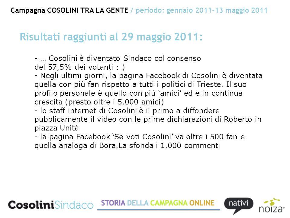 - … Cosolini è diventato Sindaco col consenso del 57,5% dei votanti : ) - Negli ultimi giorni, la pagina Facebook di Cosolini è diventata quella con più fan rispetto a tutti i politici di Trieste.