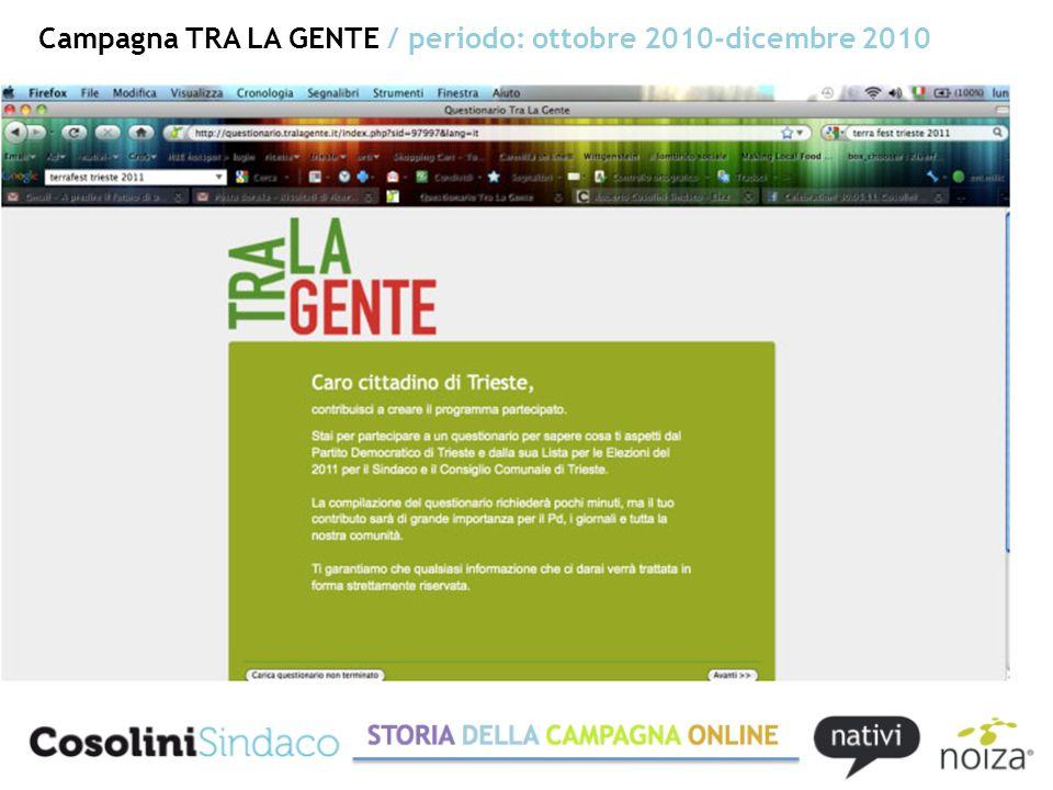 Campagna COSOLINI TRA LA GENTE / periodo: gennaio 2011-13 maggio 2011 Il ruolo di penetrazione tra i cittadini della newsletter 8 giugno 2011.