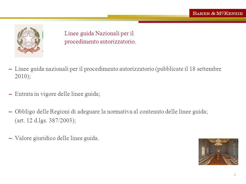 4 Linee guida Nazionali per il procedimento autorizzatorio. – Linee guida nazionali per il procedimento autorizzatorio (pubblicate il 18 settembre 201