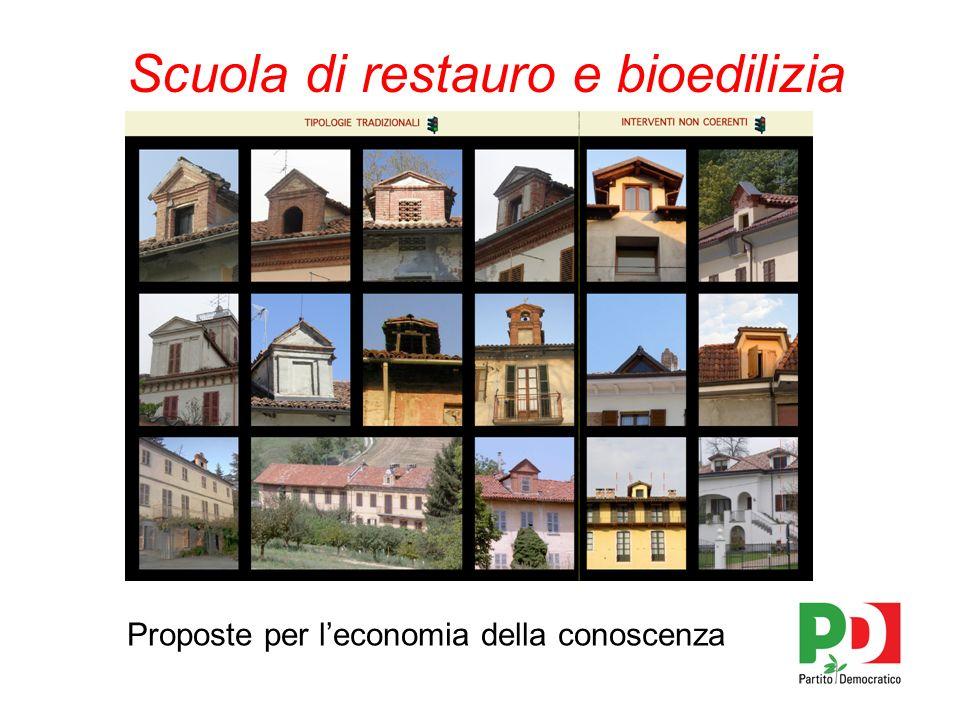 Scuola di restauro e bioedilizia Proposte per leconomia della conoscenza
