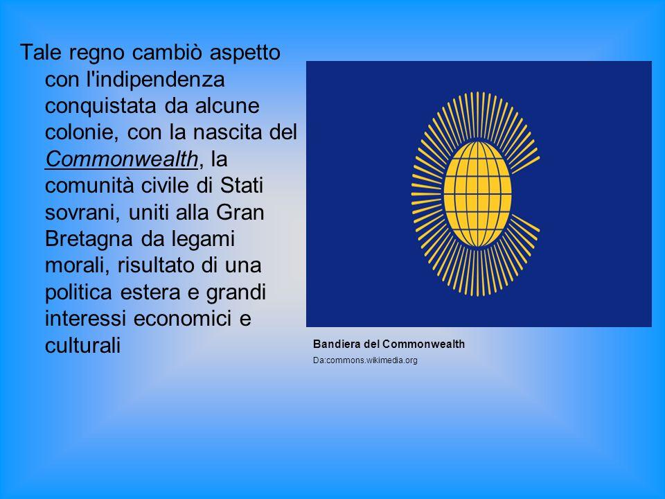 Tale regno cambiò aspetto con l'indipendenza conquistata da alcune colonie, con la nascita del Commonwealth, la comunità civile di Stati sovrani, unit
