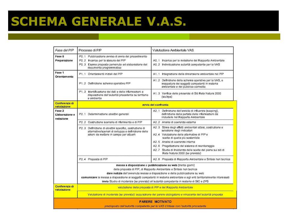 SCHEMA GENERALE V.A.S.