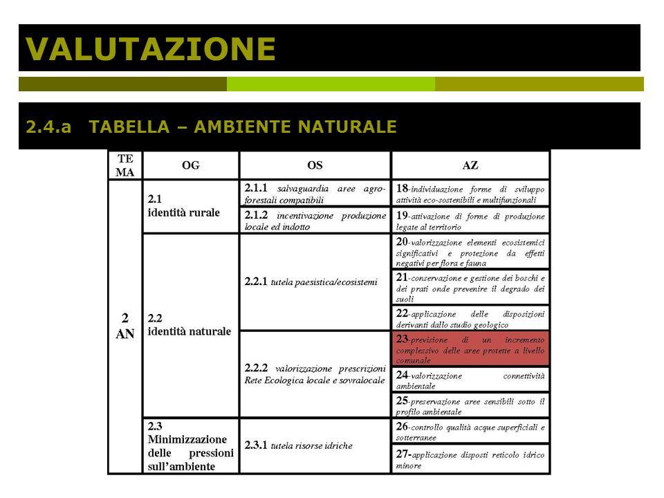 VALUTAZIONE 2.4.a TABELLA – AMBIENTE NATURALE