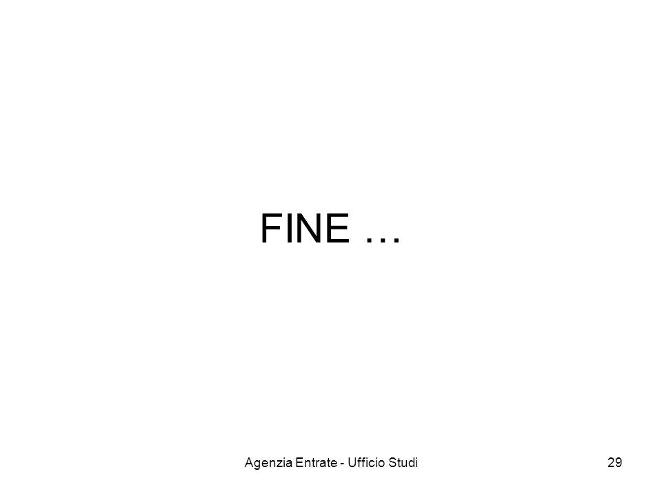 Agenzia Entrate - Ufficio Studi29 FINE …