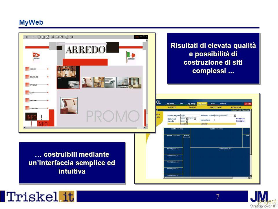 8 MyShop Gestione catalogo, promozioni, offerte, proprietà degli articoli Un ricco backoffice per la gestione del negozio e degli ordini