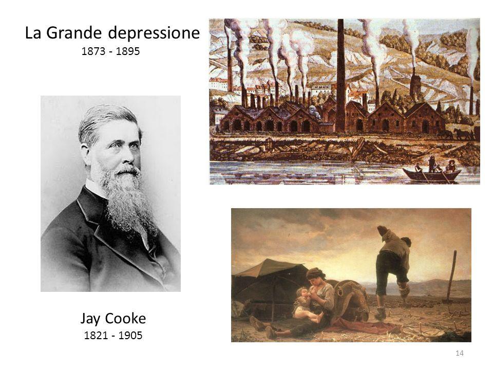 Jay Cooke 1821 - 1905 La Grande depressione 1873 - 1895 14