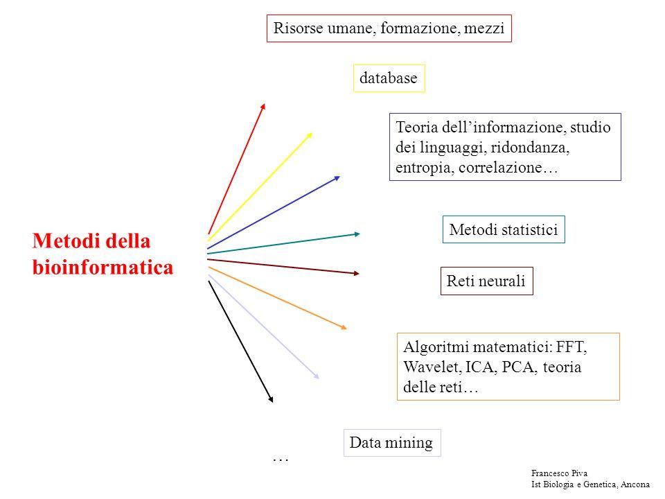 Frazionamento in gel Se si sa la lunghezza del cDNA che stiamo cercando, si possono selezionare su gel prima di legarli al vettore Francesco Piva Ist Biologia e Genetica, Ancona