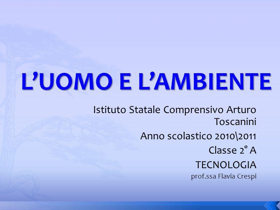 Istituto Statale Comprensivo Arturo Toscanini Anno scolastico 2010\2011 Classe 2° A TECNOLOGIA prof.ssa Flavia Crespi