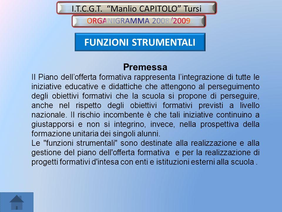 I.T.C.G.T.Manlio CAPITOLO Tursi FUNZIONE STRUMENTALE AREA 1 – GESTIONE P.O.F.